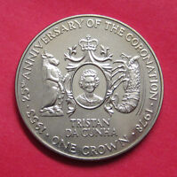 1978 TRISTAN DA CUNHA ONE CROWN   25TH ANNIVERSARY OF THE CORONATION