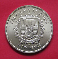 1977 FALKLAND ISLANDS 50 PENCE   UNCIRCULATED