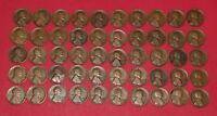 1927 D LINCOLN WHEAT CENTS ROLL   50 COINS   SUPERB COLLECTION
