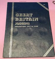 GREAT BRITAIN FLORIN COLLECTION 1911 1940 IN FOLDER  PART CO