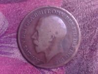 GREAT BRITAIN   ONE   PENNY   1919