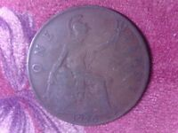 GREAT BRITAIN   ONE   PENNY   1920