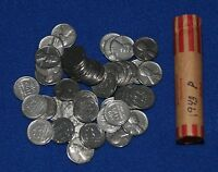 1943 LINCOLN WHEAT CENT STEEL PENNY ROLL  50 COINS