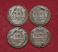 LINCOLN WHEAT CENTS WITH LAMINATION ERRORS   1945 1948 S 1951 S 1956 D