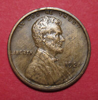 1921 S LINCOLN WHEAT CENT   XF/AU WOODY