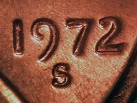 1972 S LINCOLN MEMORIAL CENT   STRIKE DOUBLED/MACHINE DOUBLING   STRONG