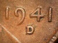 1941 D LINCOLN WHEAT CENT   STRIKE DOUBLING/MACHINE DOUBLED   NICE