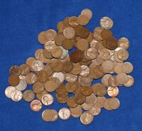 LOT OF 175 LINCOLN WHEAT PENNIES   1917 1958 P D S