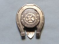 VINTAGE 1939 GOOD LUCK TOKEN MONEY CLIP   KAY JEWELRY COMPANY   ITEM 375