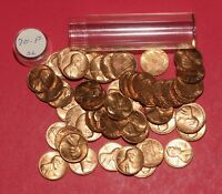 1970 LINCOLN MEMORIAL CENT ROLL  50 COINS    BU