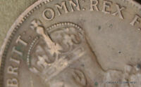 1924 PENNY GOOD EXAMPLE 6 PEARLS RAISED LUMPS UNDER OMN PREDECIMAL COIN ZOB40