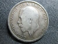1914   KING  GEORGE V  HALF  CROWN    SILVER   92.5    COIN