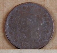 1843 U.S 1 CENT COIN AMERICAN 1 CENT LARGE CENT 27MM