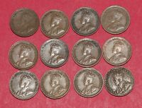 12 CANADA CENTS PENNIES   KING GEORGE V COLLECTION