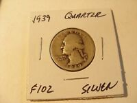 VERY NICE 1939  SILVER WASHINGTO QUARTER  CHECK OUT THE PICTURES   F102