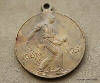 1951  50 YEARS COMMONWEALTH OF AUSTRALIA  BRONZE MEDALLION  CAGK2