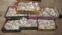 300  PIECES OF USED US POSTAGE STAMPS OFF PAPER LOTS OF VARIETY