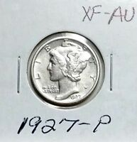 1927 P XF AU MERCURY DIME COMBINED SHIPPING OK  SEE DESCRIPTION