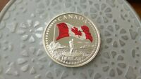 2015 50TH ANN OF THE FLAG COLOURED PROOF SILVER DOLLAR