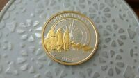 2013 ARCTIC EXPEDITION GOLD PLATED PROOF SILVER DOLLAR
