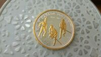 2012 WAR OF 1812 GOLD PLATED PROOF SILVER DOLLAR