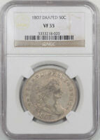 1807 DRAPED BUST HALF DOLLAR NGC VF-35. ANOTHER COIN FROM THE REEDED EDGE
