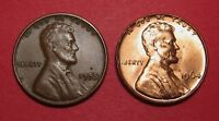 LINCOLN WHEAT AND MEMORIAL CENTS   FOLDER OVER RIM FIN ERROR 1955 AND 1964