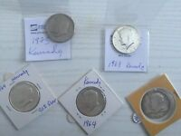 7 KENNEDY COINS  4 1964 1 1973 CAMEO & 1 1968 PROOF 1 1776 1976