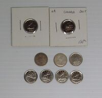 10 CANADIAN DIMES FROM 1890H TO PRESENT   1903 NL TEN CENT PIECE