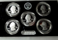 2011 S  AMERICA THE BEAUTIFUL SILVER PROOF QUARTER DOLLAR SET 5 COINS IN OGH