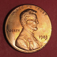 1983 LINCOLN MEMORIAL CENT ERROR WITH TRAIL DIES FROM LIBERTY AND DATE