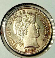 1916 BARBER DIME  TRUE UNCIRCULATED COIN.. NO BULLPUCKY