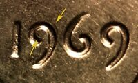 1969 LINCOLN MEMORIAL CENT DOUBLED DIE WDDO 003    AND B/U