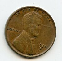 1934 D LINCOLN WHEAT CENT   EXTRA FINE     HUCKY