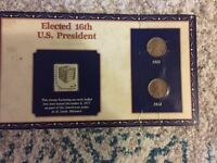 1953-1954 CIRCULATED LINCOLN CENT & STAMP