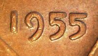 1955 LINCOLN WHEAT PENNY CENT DOUBLED DIE DDO 003