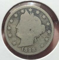 1898 LIBERTY V NICKEL.  COLLECTOR COIN FOR YOUR COLLECTION.2