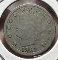 1902 LIBERTY V NICKEL.  COLLECTOR COIN FOR YOUR COLLECTION.1