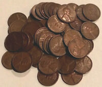 1951 D LINCOLN WHEAT CENTS  - 1 ROLL - 50 COINS