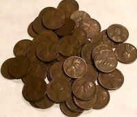 1950 S LINCOLN WHEAT CENTS  - 1 ROLL - 50 COINS