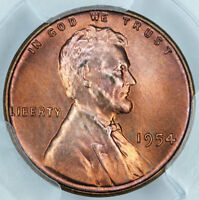 1954 PCGS MINT STATE 65RD LINCOLN CENT