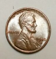 1945-S LINCOLN WHEAT CENT  GRADE WITH TONING SHIPS FREE