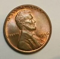 1946 D LINCOLN CENT WHEAT INSANELY  TONED MS BU COIN SHIPS FREE