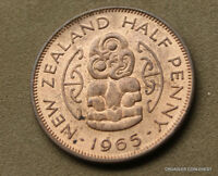 1965 NEW ZEALAND UNCIRCULATED HALF PENNY NICE LUSTROUS  CAHE8