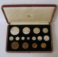 A CASED GREAT BRITAIN 1937 GEORGE VI ROYAL MINT 15 COIN SPEC