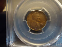 1933 1C RB LINCOLN CENT PCGS MINT STATE 65RB