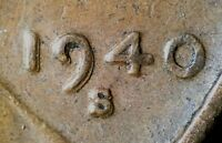 1940 S LINCOLN WHEAT CENT WITH MACHINE DOUBLED DATE MM AND TY  MD    STRONG