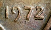 1972 LINCOLN MEMORIAL CENT WITH MACHINE DOUBLED DATE  MD    STRONG
