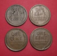 LINCOLN WHEAT CENTS WITH LAMINATION ERRORS   1933 1937 1941 1944