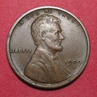 1909 S LINCOLN WHEAT PENNY CENT   KEY DATE   XF